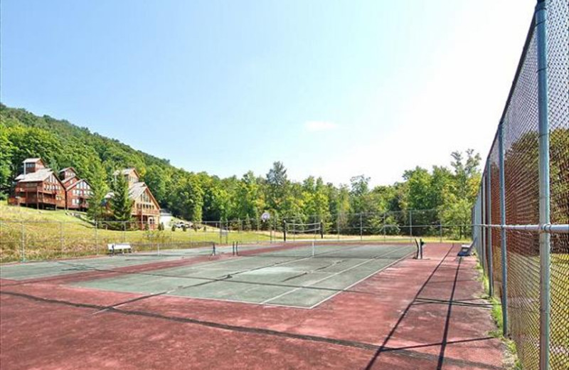 Tennis court at Best of Canaan.