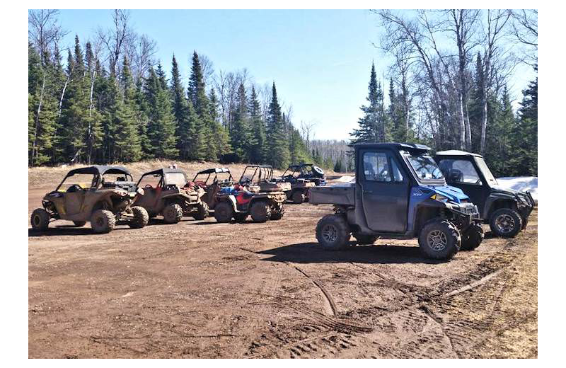 ATV at Silver Rapids Lodge.