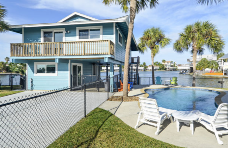 Reel Paradise is a private home with pool on the canal in popular Jamaica Beach and has 3 bedrooms, 2 baths and sleeps up to 8.