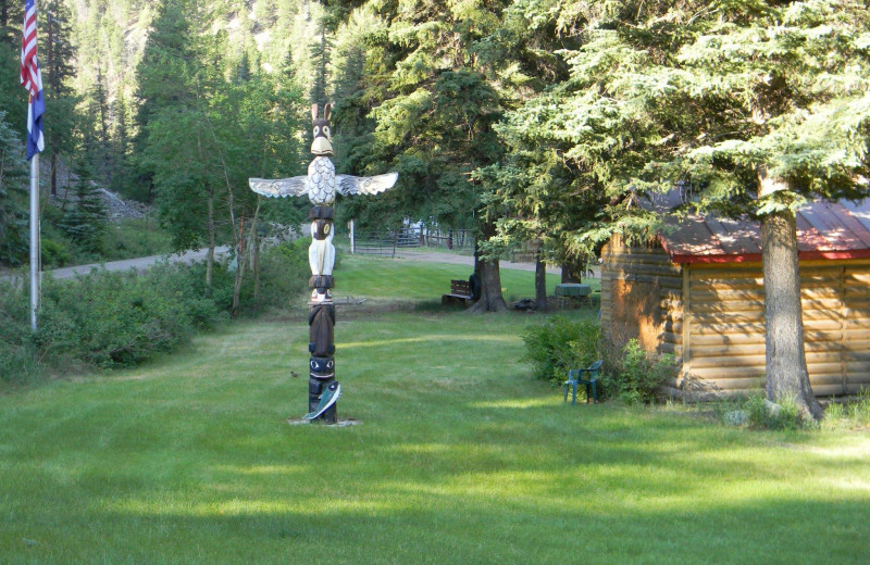 Totem at Tomahawk Guest Ranch.
