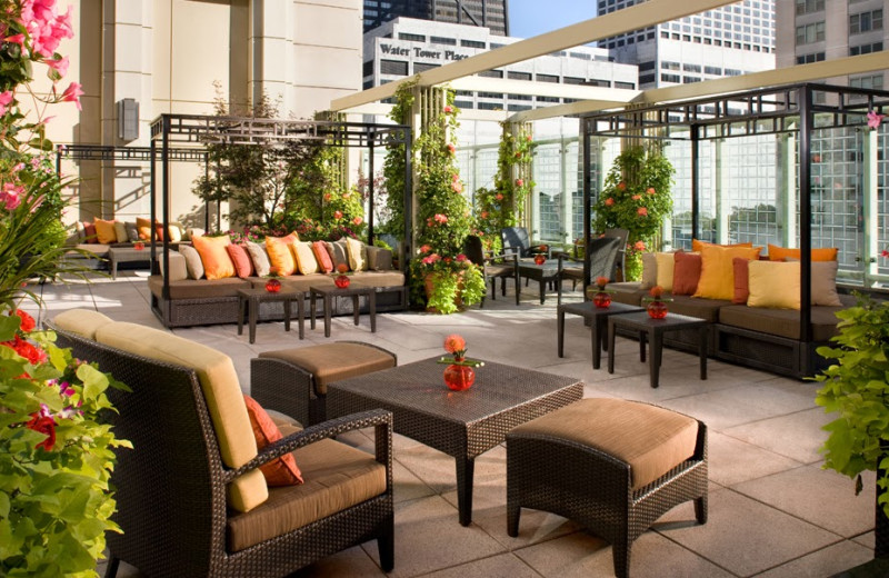 Patio view at The Peninsula Chicago.