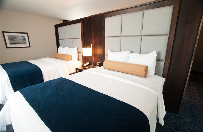 Double guest room at Kent State University Hotel.