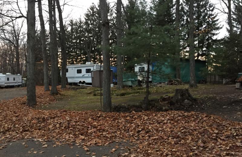 RV campground at Sandy Beach at Otter Lake.
