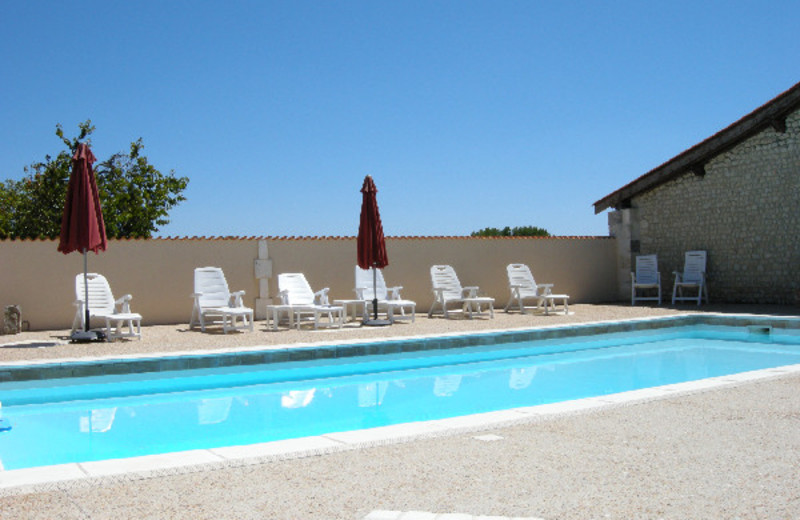 Outdoor pool at Anglade.