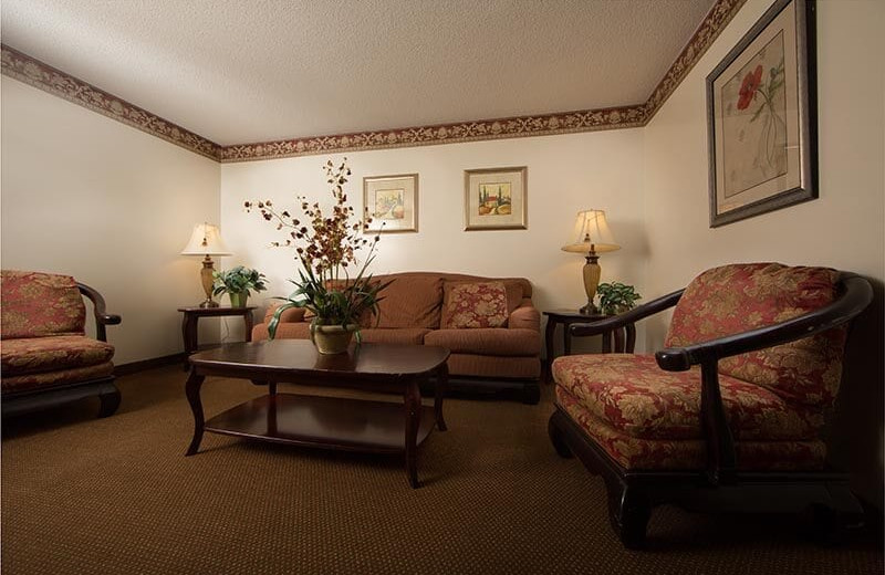 Guest living room at Villa Roma Resort and Conference Center.