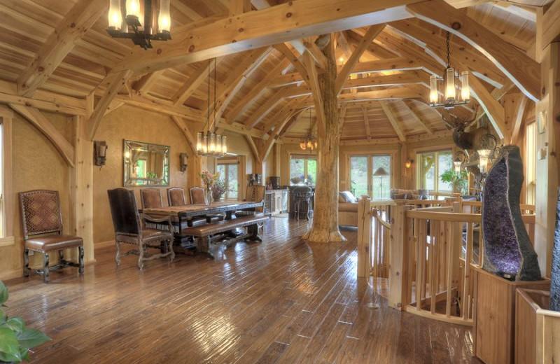 Rental interior at Hill Country Lake House.