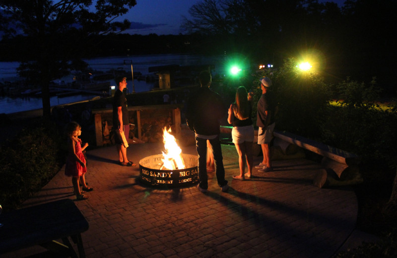 Bonfire at Big Sandy Lodge & Resort.