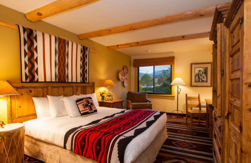 Guest room at The Lodge at Santa Fe.