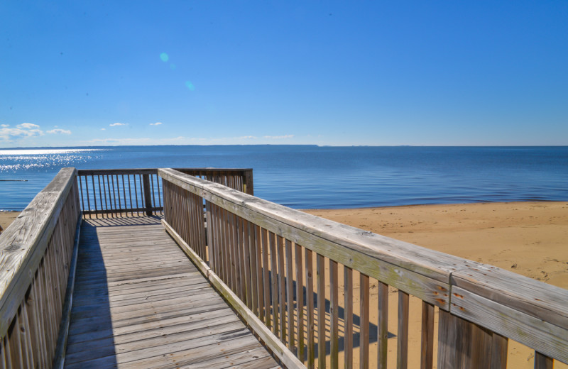 Rental beach boardwalk at Joe Lamb Jr. & Associates Vacation Rentals.