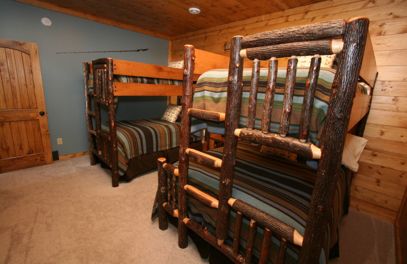 Guest bedroom at White Birch Resort.