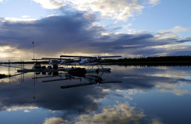 Lake view at Alaska Rainbow Lodge.