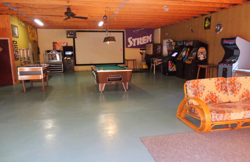Recreation room at Gypsy Villa Resort.