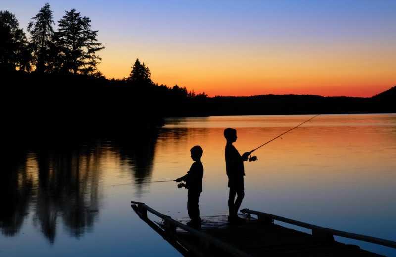 Fishing at Wilderness Air Escapes.