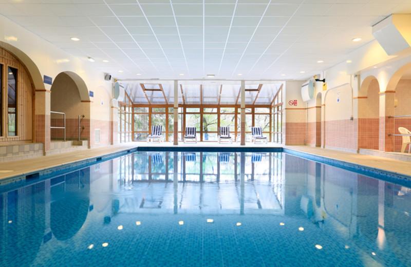 Indoor pool at Loch Rannoch Hotel.