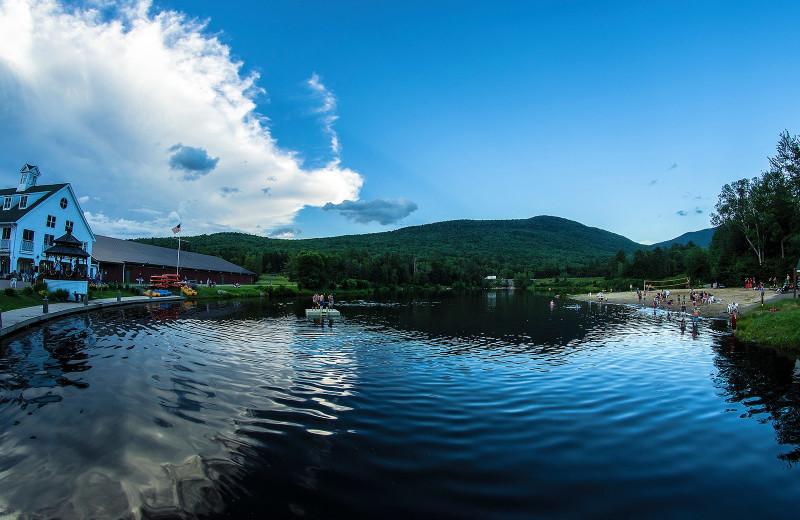 Lake view at  Black Bear Lodge.