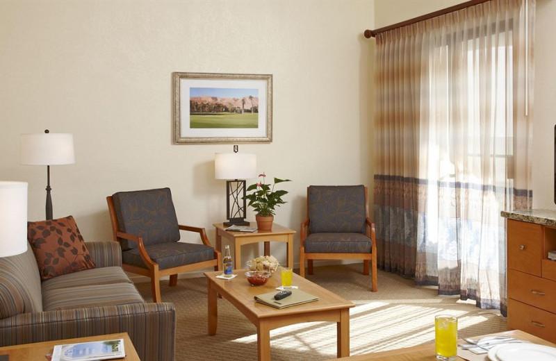Vacation rental living room at Vista Mirage Resort.