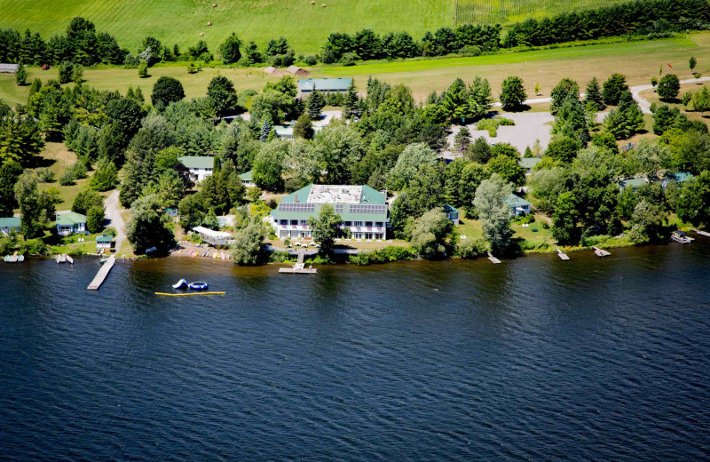 Aerial view of Elmhirst's Resort.