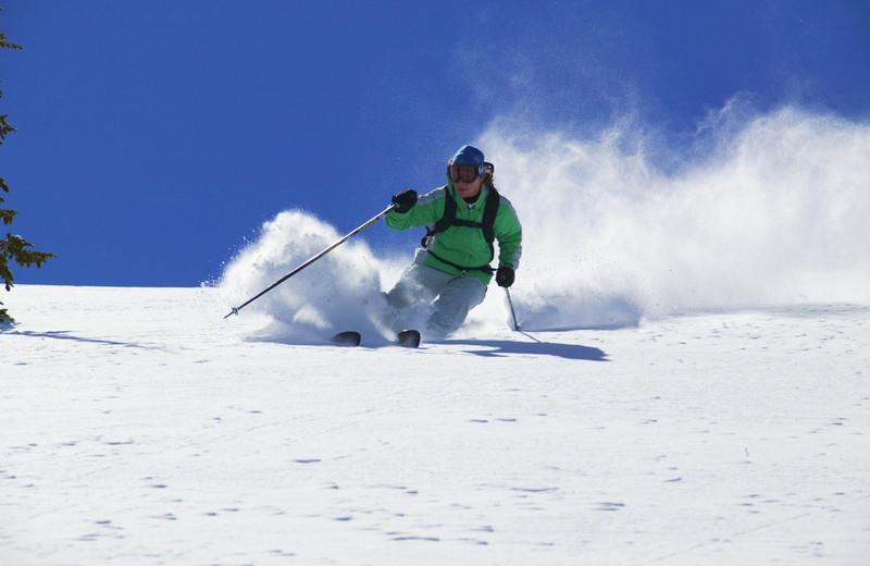 Downhill skiing at Hotel Vienna.