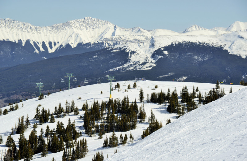 Skiing near Whistlers Inn.