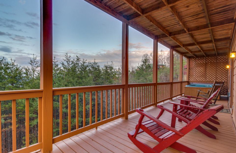 Rental deck at Vacasa Gatlinburg.