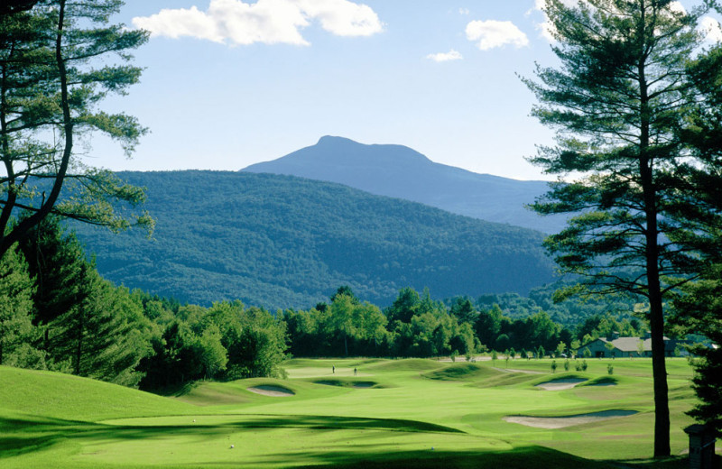 Golf course at Stoweflake Mountain Resort & Spa.