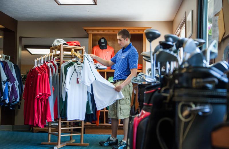 Golf shop at Evergreen Resort.