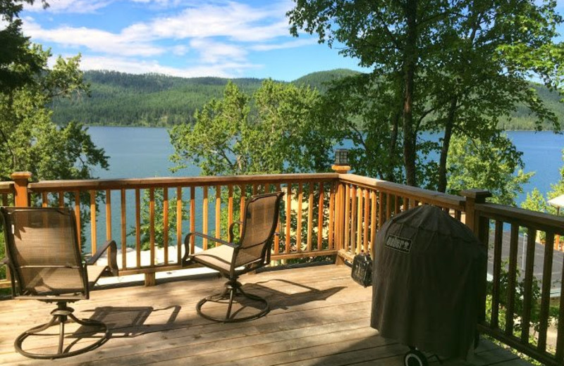Vacation rental deck at Five Star Rentals of Montana.