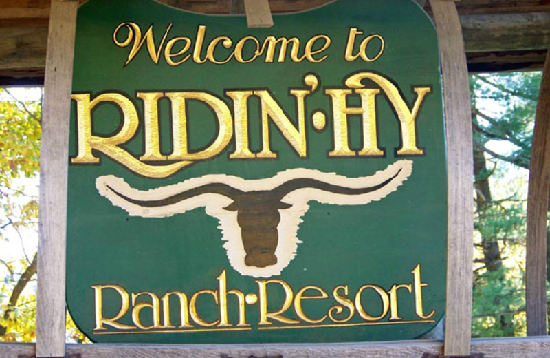 Ridin-Hy Ranch Resort sign.