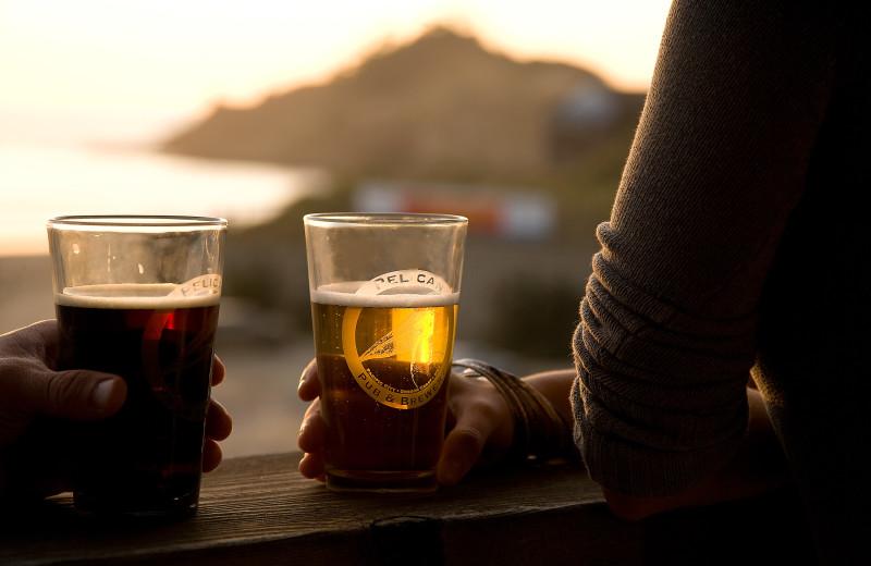 Drinks at Inn at Cape Kiwanda.