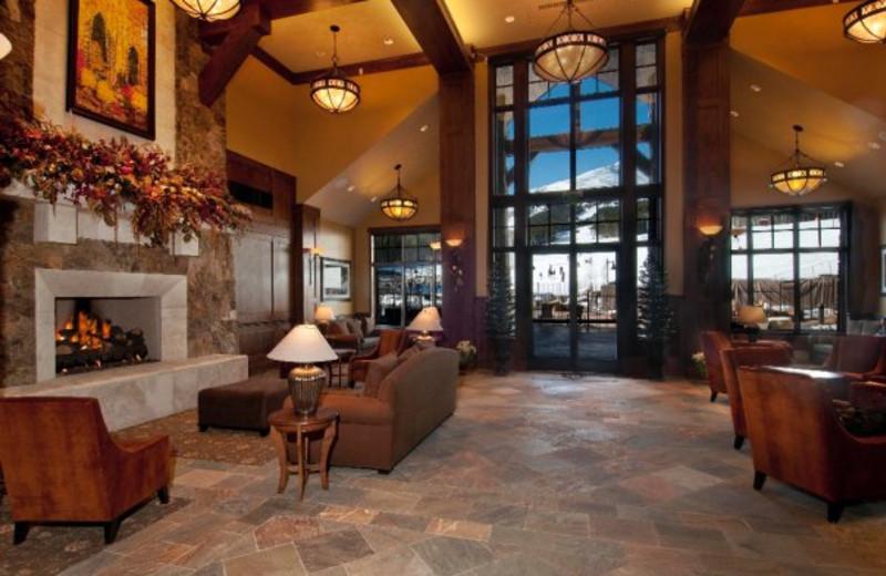Lobby area at Grand Lodge on Peak 7.