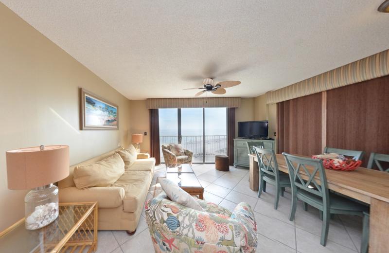 Rental living room at Coastal Properties.