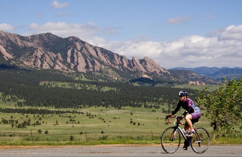 Biking at Boulder Adventure Lodge.