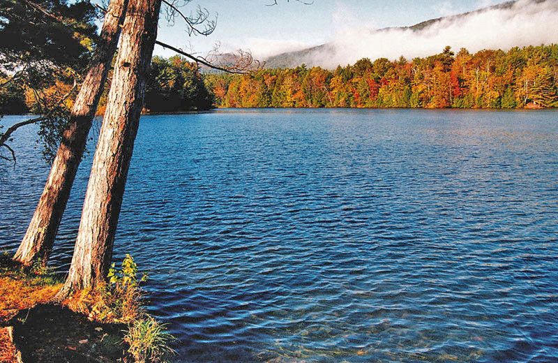 Viewing fall colors on the lake at The Mountain Inn.