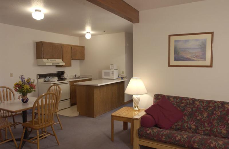 Suite interior at Adobe Resort.
