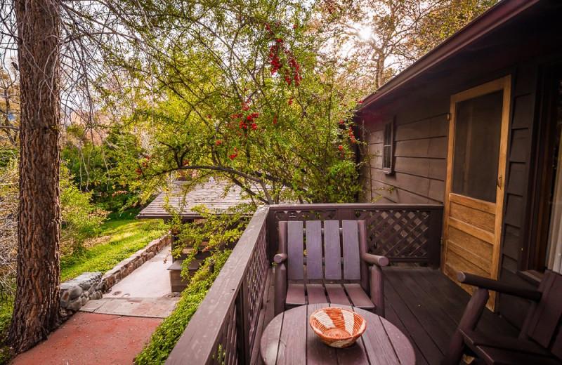 Cabin deck at Briar Patch Inn.