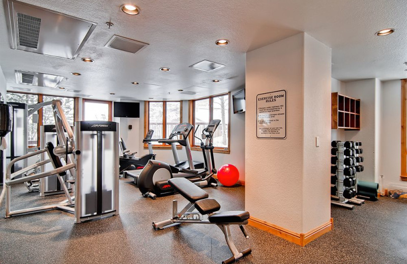 Fitness room at Torian Plum Resort.