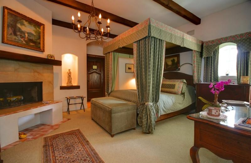 Guest room at Chateau du Sureau.