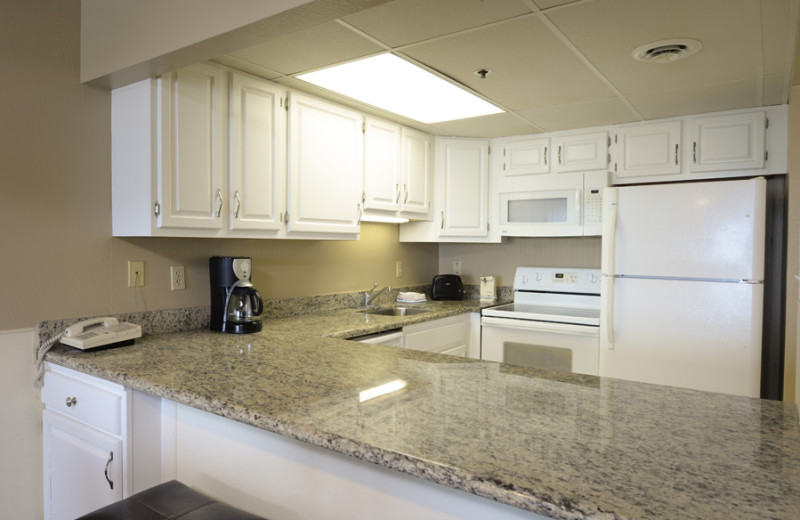 Guest kitchen at Marigot Beach Suites.