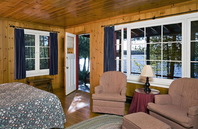 Cabin interior at Killarney Lodge.