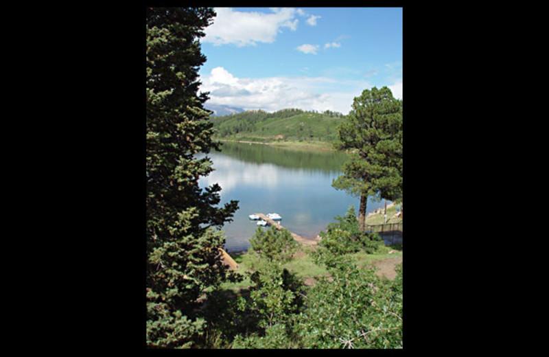 Dock view at Monument Lake Resort.