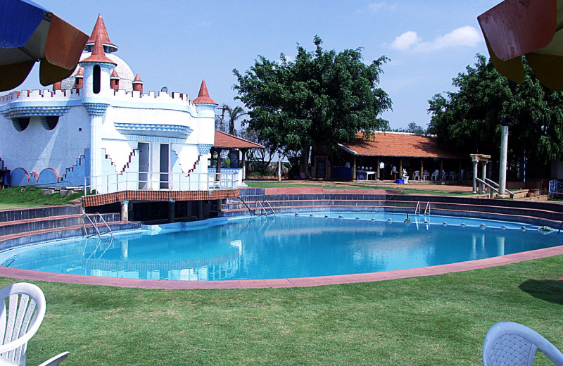 Outdoor pool at Shakthi Hill Resorts.
