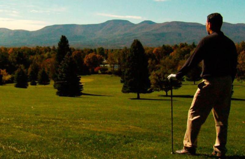 Golfer at Thunderhart Golf Course.