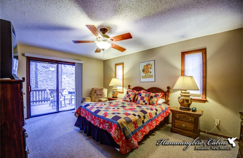 Master bedroom at Hummingbird Cabins -Timberline Townhouse Vacation Rental