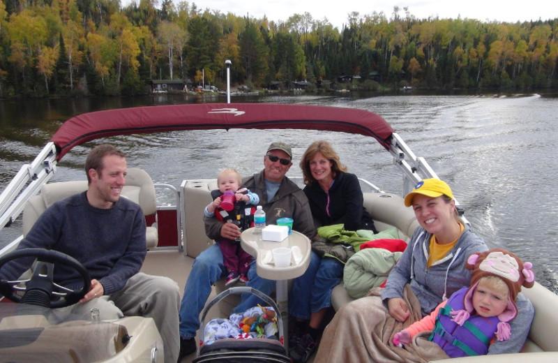 Boating at Loon Lake Lodge.