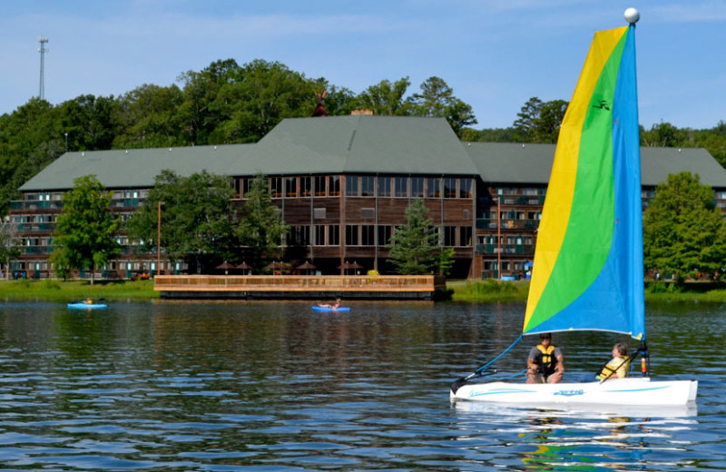 Sailing at YMCA Trout Lodge & Camp Lakewood.