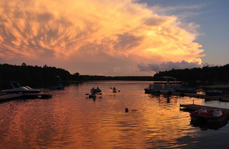 Sunset at Shady Hollow Resort.