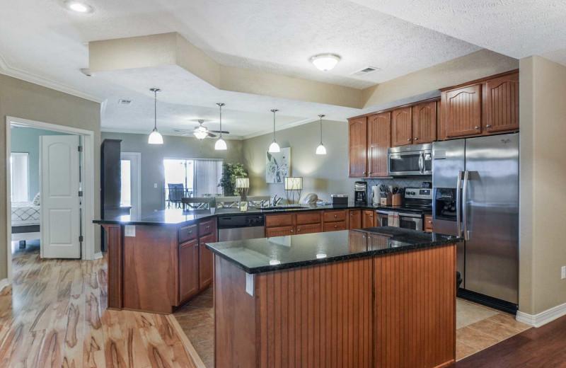 Rental kitchen at Branson Vacation Rentals.