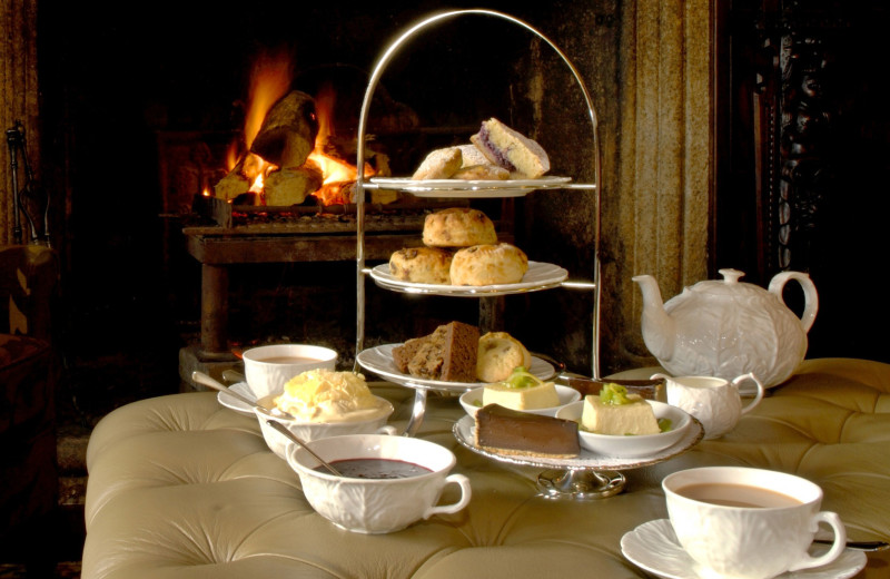 Tea time at Lewtrenchard Manor.