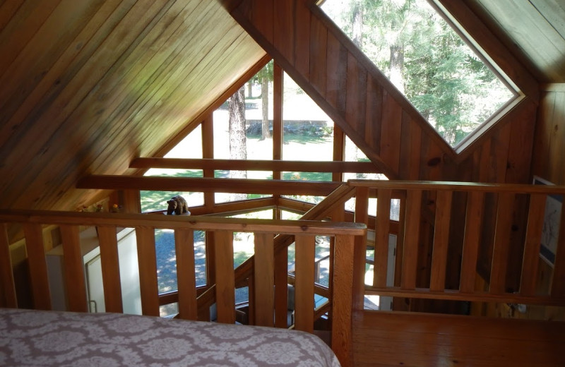 Cabin interior at Trout Lake Cozy Cabins.