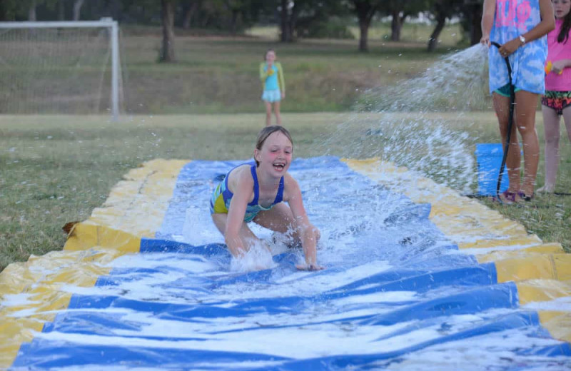 Slip and Slide at Camp Balcones Spring.